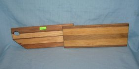 Pair Of Butcher Block Style Cutting Boards