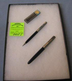 Vintage Parker Fountain Pen And Pencil Set