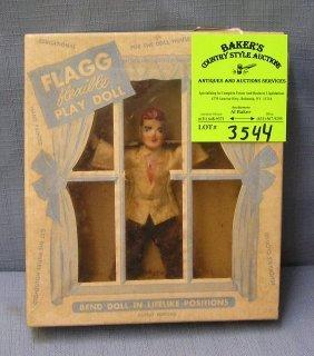Vintage Flexible Play Doll Mint In Original Box