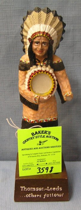 Vintage Thompson's Country Store Painted Indian Figure