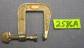 Vintage Ideal Toys Cast Metal C-clamp Toy Tool