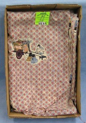 Vintage Oriental Designed Silk Tapestry