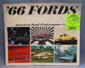1966 Ford Performance Cars Catalog