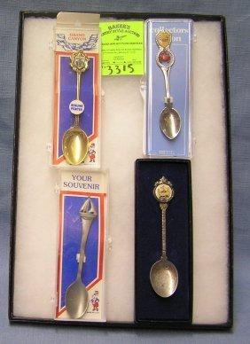 Group Of Vintage Souvenir Spoons