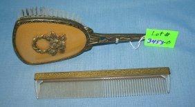 Antique Vanity Comb And Brush Set