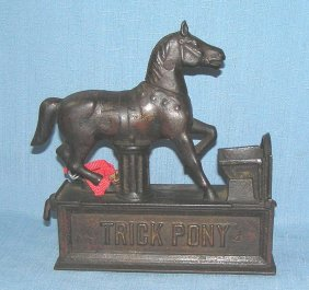 Antique Trick Pony Mechanical Bank