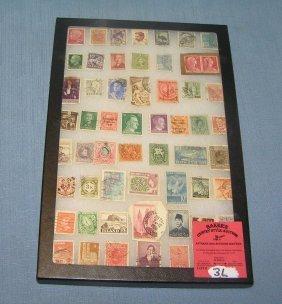 Group Of Vintage World Wide Postage Stamps