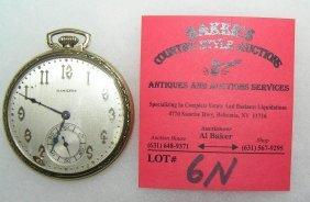 Antique Hamilton 14k Gold Filled Pocket Watch