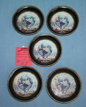 Group Of 1964-65 Ny World's Fair Snack Bowls