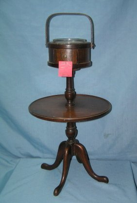Antique Mahogany 2 Tiered Table