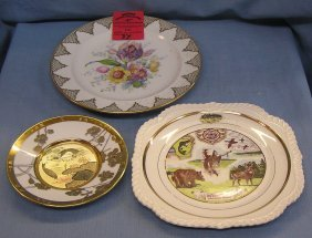 Group Of 3 Vintage Plates