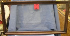 Antique Glass And Walnut Serving Tray