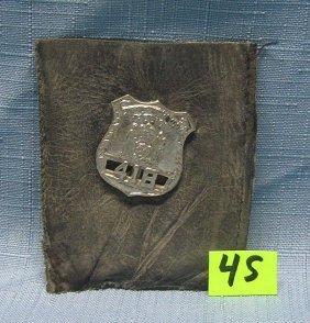 Vintage Ny City Policeman's Wallet Badge
