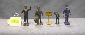 Group Of Five Cast Metal Figures