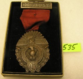 Wwi Faithful Service Bronze Award Medal