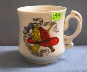 Vintage Fire Department Shaving Mug