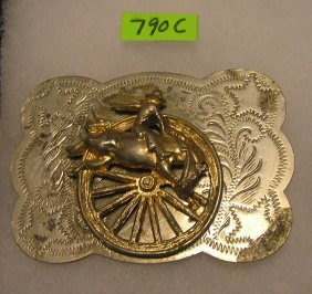 Bronco Buster Western Themed Belt Buckle