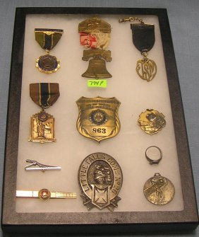 Collection Of American Legion Badges And More