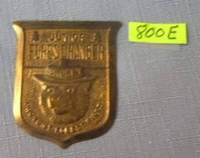 Vintage Smokey The Bear Forest Ranger Badge