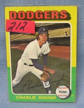 Vintage Charlie Hough Baseball Card