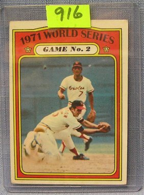 Vintage 1971 World Series Baseball Card