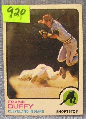 Vintage Frank Duffy Baseball Card