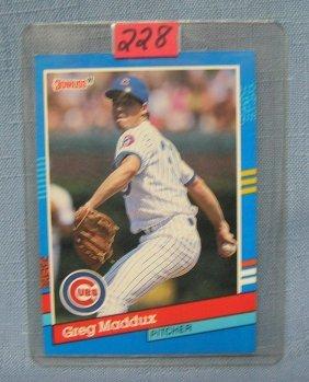 Vintage Greg Maddux Baseball Card