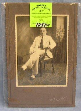 Early Elegantly Dressed Gentleman W/ Cane Photo
