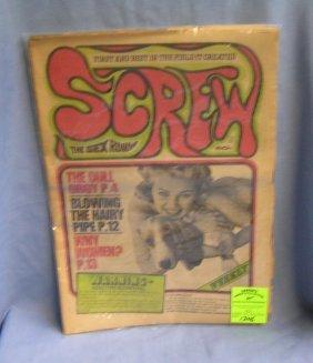 Group Of 4 Vintage Screw Erotica Newspapers