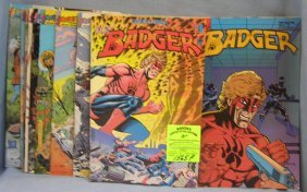 Large Group Of Vintage Badger Comic Books