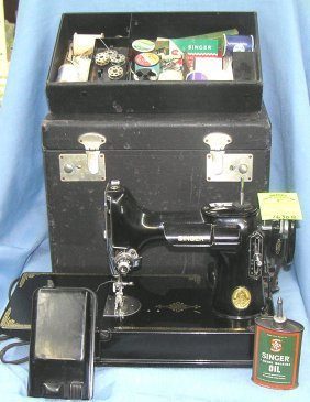 Early Singer Feather Weight Sewing Machine
