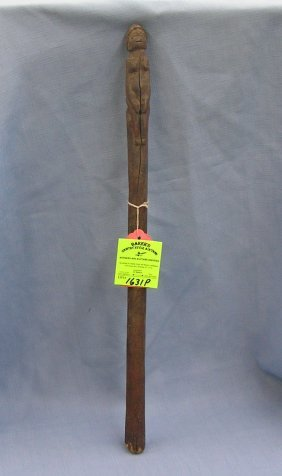 Antique Hand Carved African Staff