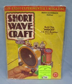Vintage Short Wave Craft Radio Magazine