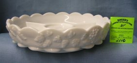 Vintage Westmorland Milk Glass Serving Bowl
