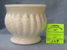 Early Signed Randall Milk Glass Serving Bowl