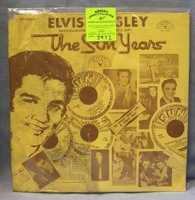 Vintage Elvis Presley The Sun Years Record Album
