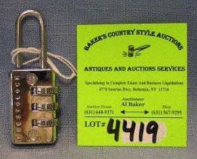 Vintage Combination Lock By Prestolock Usa