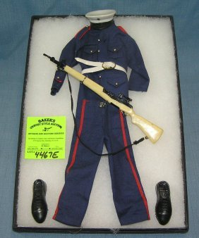 Original Gi Joe Marine Corp. Dress Blues Uniform
