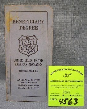 Junior Order Of The United American Mech. Benefit