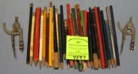 Vintage Writing Instruments Many With Advertising