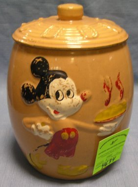 Mickey Mouse Cookie Jar By Walt Disney Prod.