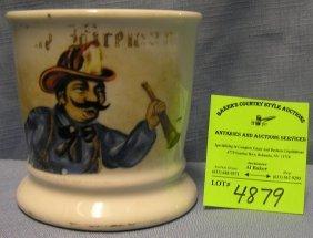 Antique Fireman Shaving Mug