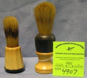 Pair Of Antique Shaving Brushes