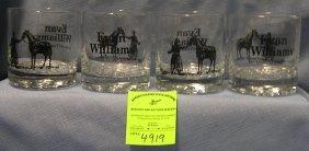 Evan Williams Kentucky Whisky Advertising Glasses