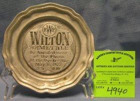 Vintage Wilton Oyster Bar Advertising Snack Dish