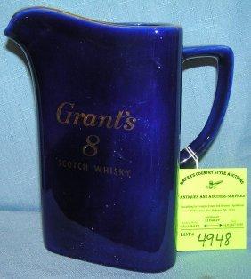 Vintage Grants 8 Scotch Whiskey Advertising Whisky