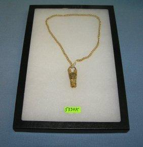 Zipper Shaped Advertising Pocket Watch Fob & Chain