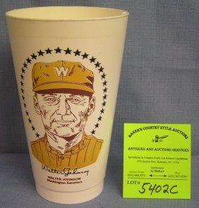 Vintage Walter Johnson Washington Senators Sports Cup