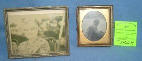 Pair Of Vintage Picture Frames With Images