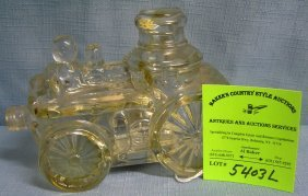 Early Glass Avon Fire Pumper Cologne Container